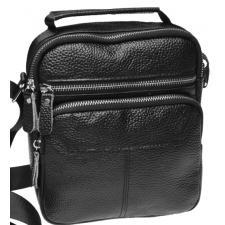Мужская кожаная сумка K136-57 Черный
