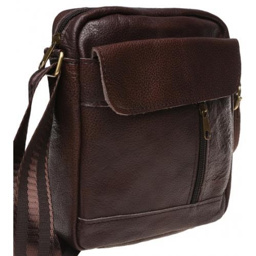 Мужская сумка из кожи Keizer K1112N Коричневый