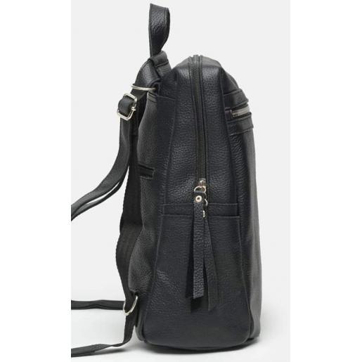 Женский кожаный рюкзак Horton BR656-1 Black