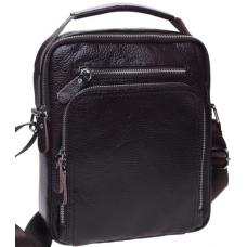 Мужская коричневая кожаная сумка K15608