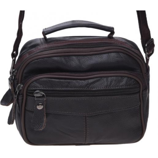 Коричневая мужская кожаная сумка Keizer K101a