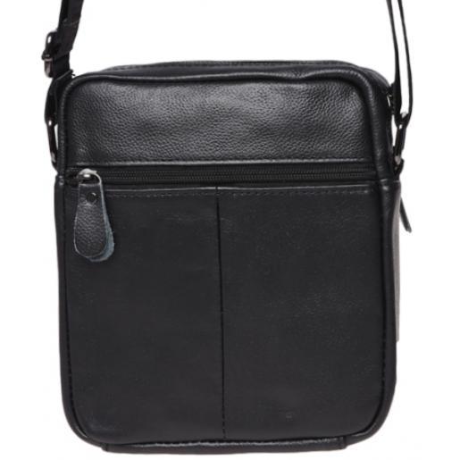 Мужская кожаная сумка Borsa K11169a Черный