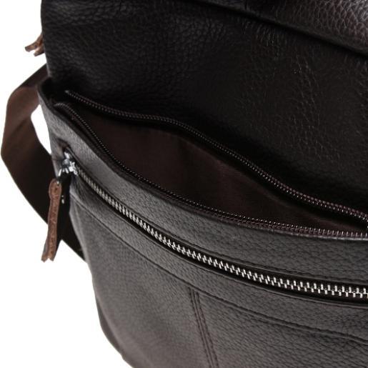 Мужская кожаная сумка K19980 Коричневый