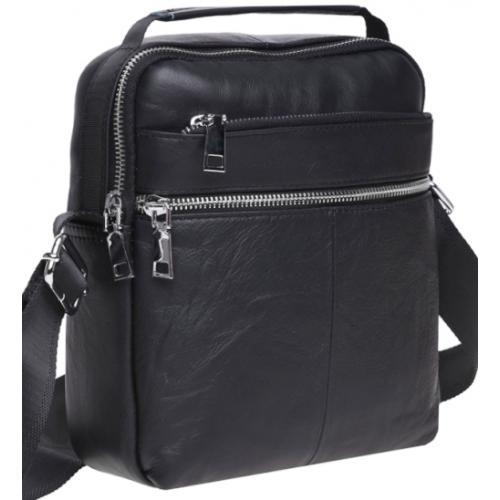 Кожаная мужская сумка Keizer K16013 Черный