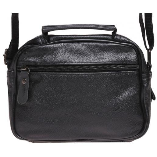 Черная кожаная мужская сумка Keizer K101aN