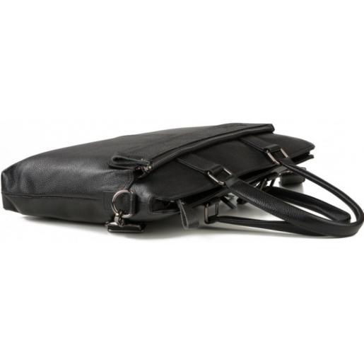 Деловой кожаный портфель для мужчин Tiding 6901-3AU Черный