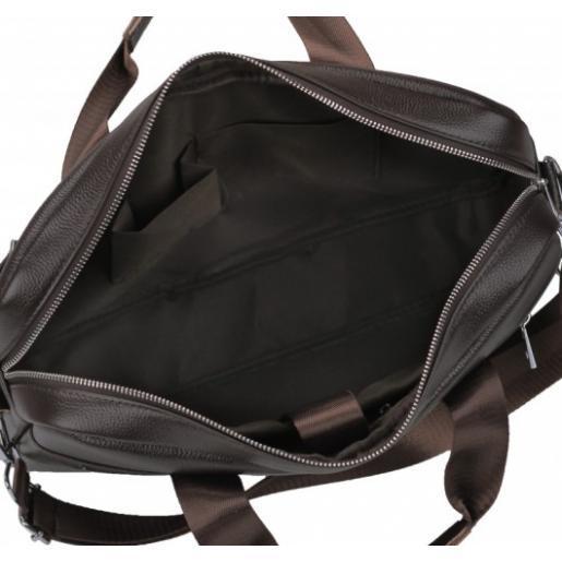 Кожаная мужская сумка для ноутбука Eterno 1120CU Коричневый