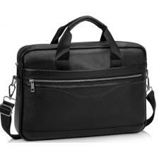 Кожаная деловая мужская сумка Eterno 128-1AU Черный