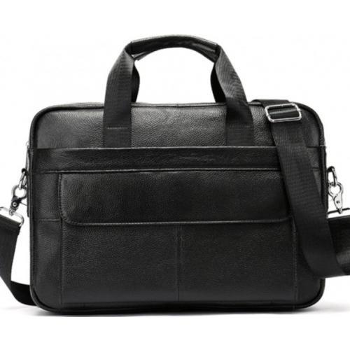 Мужская кожаная сумка для документов и ноутбука Bexhill 1131A-1U Черный
