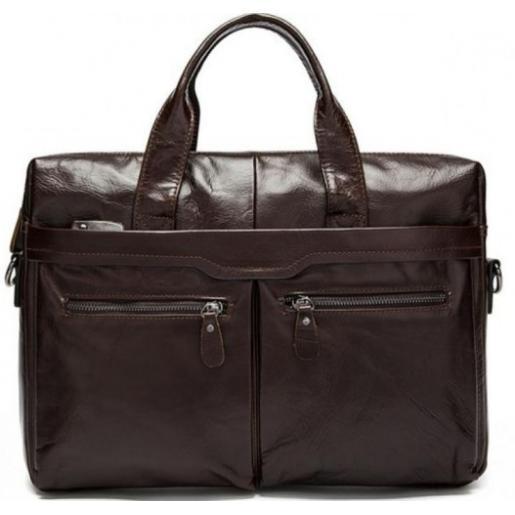 Современный мужской кожаный портфель Bexhill Bx9005CU Коричневый