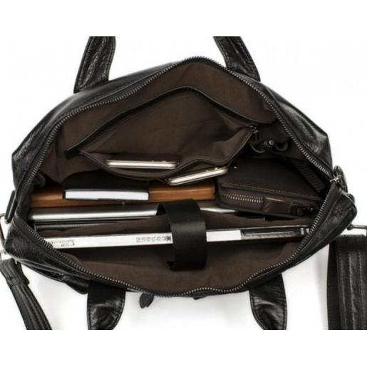 Мужской кожаный портфель Bexhill Bx9005AU Черный