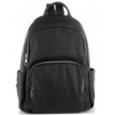 Женский кожаный рюкзак Casual ASD184-001W Black