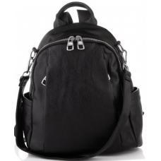 Женский кожаный рюкзак Olivia ASD129-52W Black