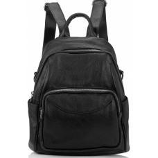 Женский кожаный рюкзак Olivia ASD132-56W Black