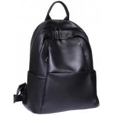 Женский черный кожаный рюкзак 80U88