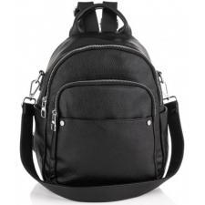 Женский кожаный рюкзак Olivia ASD129-52W черный
