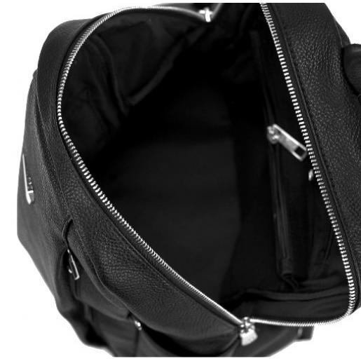 Женский кожаный рюкзак черный UBP27-008A
