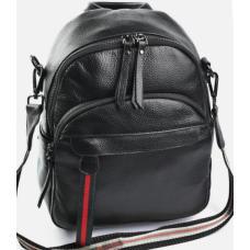 Женский кожаный рюкзак Promo 162D Черный