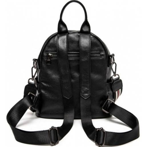 Женский кожаный рюкзак 8AU81 черный