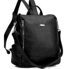 Кожаный женский рюкзак Olivia 8845AU Черный