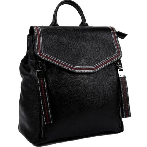 Кожаный рюкзак женский 88AU05 черный
