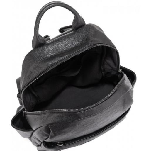 Женский кожаный рюкзак Casual ASD184-68W черный