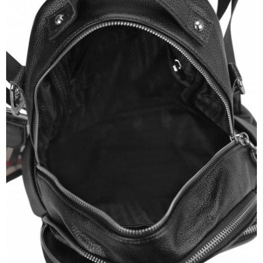Женский кожаный рюкзак Olivia Leather 5530U Черный