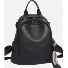 Женский кожаный рюкзак 80AU85 черный