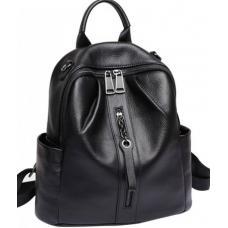 Сумка рюкзак женский из кожи 86AU63 черный