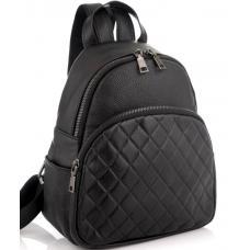 Женский кожаный рюкзак 3AU22 черный