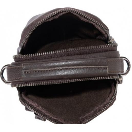 Компактная мужская кожаная сумка - барсетка Tiding 8852CU