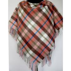 Женский теплый платок розовый KT481-2