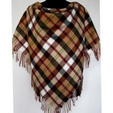 Теплый платок женский коричневый KT484-1