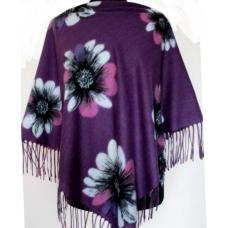 Женский теплый платок Cashmere KT40-4-4 Сливовый