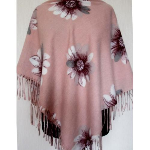 Женский теплый платок Cashmere KT40-7-1 Розовый