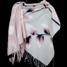 Женский теплый палантин KT371-5 Розовый