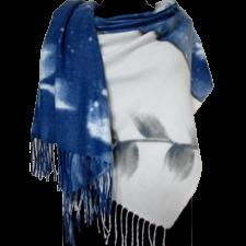Женский палантин из кашемира KT373-3 Синий