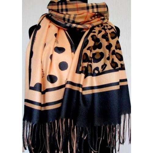 Женская шаль из кашемира KT397-2 Оранжевый