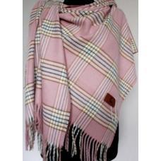 Женский теплый палантин TP292 Розовый
