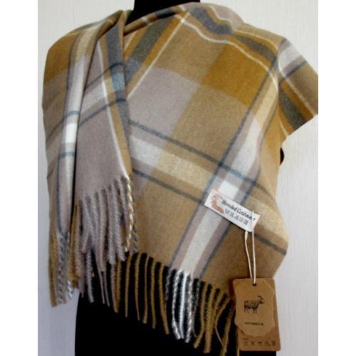 Женский шарф из кашемира KT434-7 Горчичный