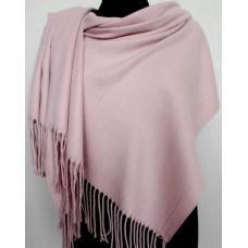 Теплый розовый палантин Pashmina 157T