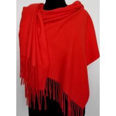 Палантин теплый Pashmina 146T Красный