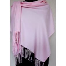 Женский теплый палантин Cashmere KT177-7 Розовый