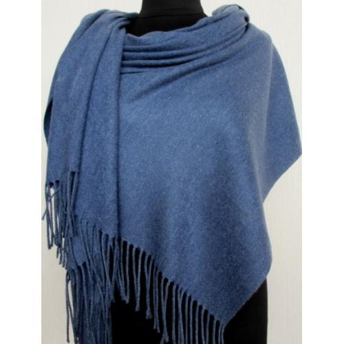 Женская кашемировая шаль Pashmina 145T Синий