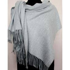 Теплый женский палантин Pashmina 144T Серый