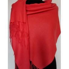 Женский палантин из кашемира Pashmina 68T Красный