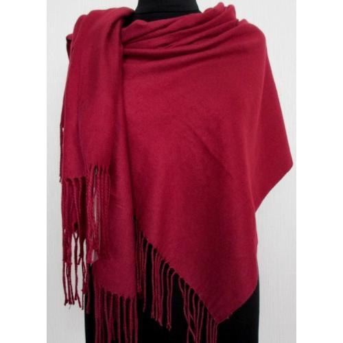 Теплый красный палантин Pashmina 150T