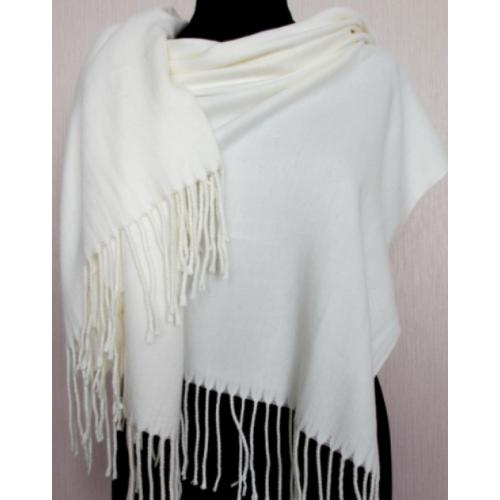 Белый теплый палантин Pashmina 160T