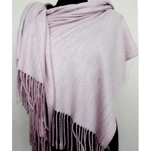 Теплый палантин Pashmina 153T Розовый меланж