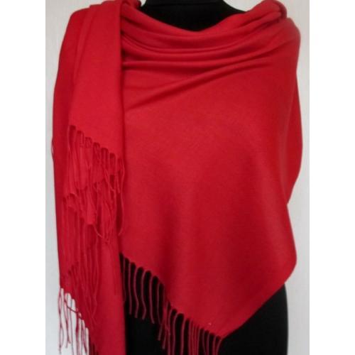 Женский шерстяной палантин PASH53T Красный